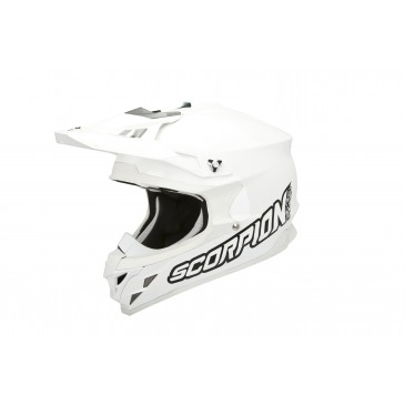 CASQUE SCORPION VX15 EVO AIR SOLID BLANC