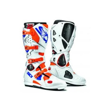 BOTTES SIDI CROSSFIRE 2SRS ORANGE/BLANC/BLEU