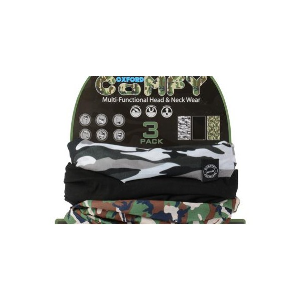LOT DE 3 TOURS DE COU OXFORD CAMO