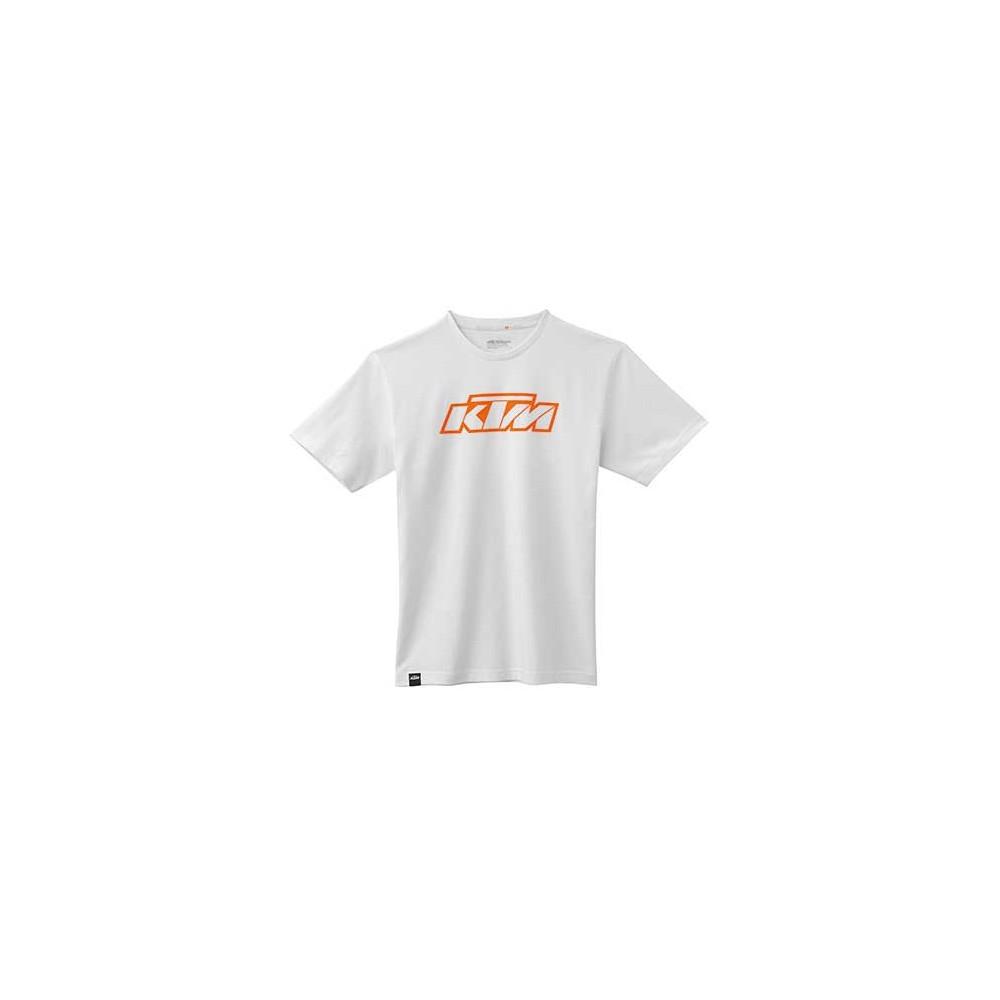 """TEE SHIRT KTM """"SX LOGO"""" BLANC"""