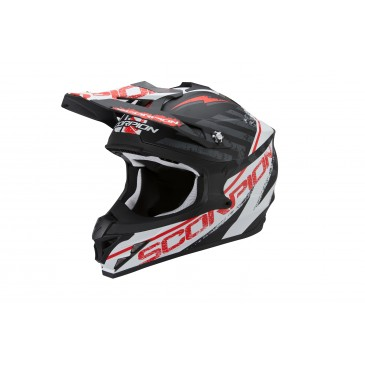 CASQUE SCORPION VX15 EVO AIR GAMMA NOIR-BLANC-ROUGE