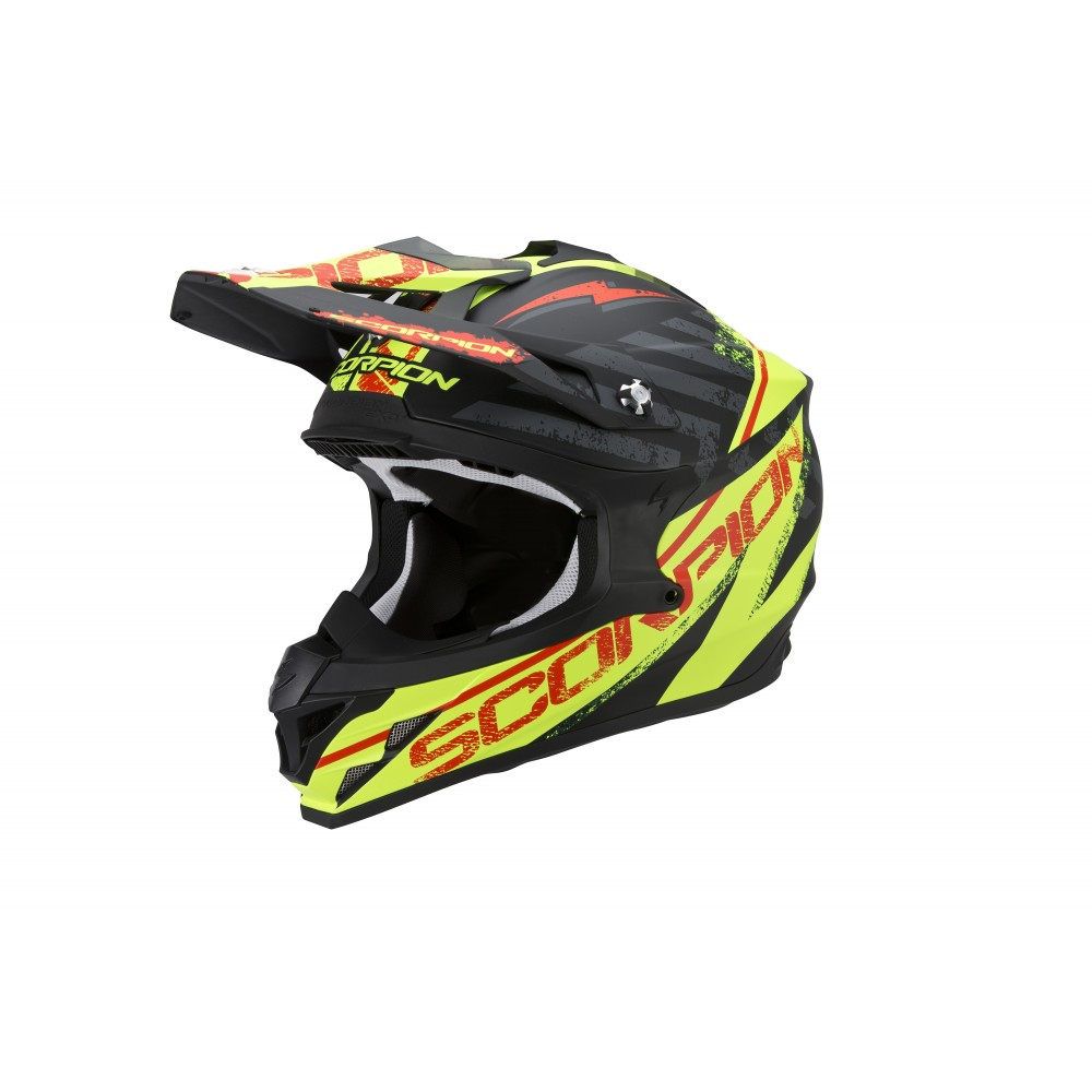 CASQUE SCORPION VX15 EVO AIR GAMMA NOIR-JAUNE FLUO