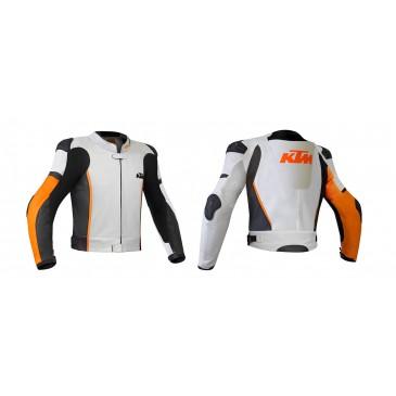 VESTE DE COURSE CUIR KTM RSX