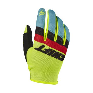 GANTS SHIFT WHIT3 AIR TARMAC JAUNE FLUO 2017