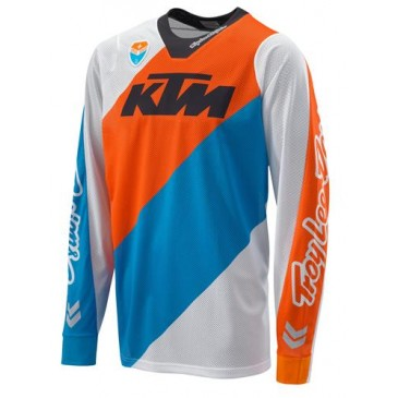 MAILLOT KTM TROY LEE DESIGN SLASH BLANC