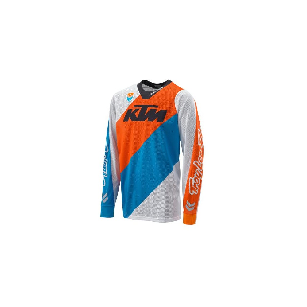 maillot ktm troy lee design slash blanc maillots wolff ktm. Black Bedroom Furniture Sets. Home Design Ideas