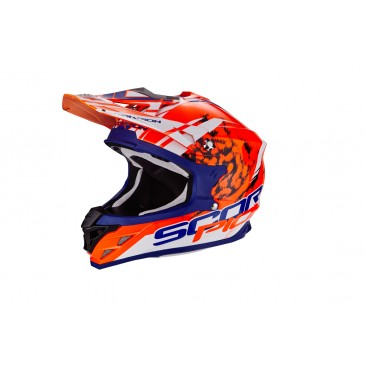 CASQUE SCORPION VX-15 AIR KISTUNE ORANGE/BLEU/BLANC