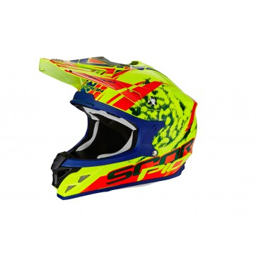 CASQUE SCORPION VX-15 AIR KISTUNE JAUNE FLUO/ROUGE