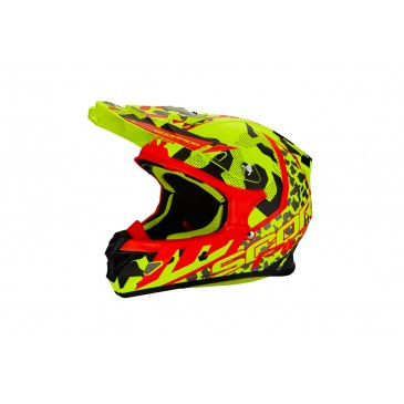CASQUE SCORPION VX-21 AIR FURIO JAUNE FLUO/NOIR/ROUGE