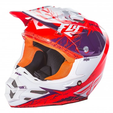 CASQUE FLY F2 CARBON RETROSPEC VIOLET/ORANGE