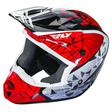 CASQUE FLY KINETIC CRUX ROUGE/BLANC/NOIR