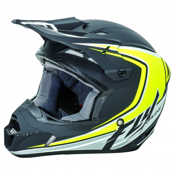 CASQUE FLY KINETIC FULL SPEED NOIR MAT/JAUNE